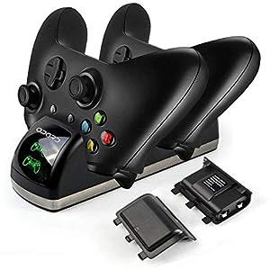 Xbox One Controller akku Ladestation Dual Ladestation mit 2X 1200mAh Akku LED Display für Xbox One/One S/One X