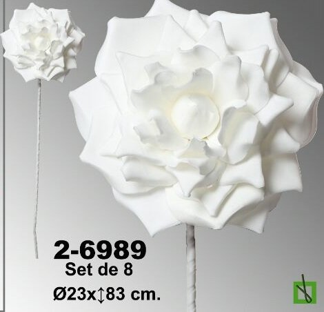 rosas de goma Eva precio en color blanco