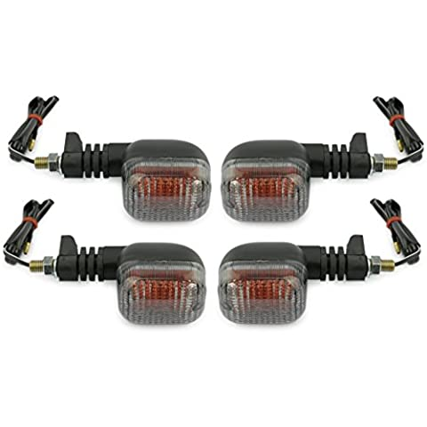 Motorize - Moto Indicateurs Set - 4 pièces - Honda NTV 650 Revere 650 Revere NTV650 E-marqué - Set 13