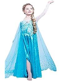 688e49327325 HarrowandSmith British Fashion Store Mädchen Empire Kleid blau blau weiß ...