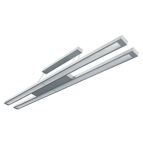 Pendelleuchte Twin 2x54W EVG Wohnraumleuchte Hängeleuchte Pendellampe Büroleuchte T5 prismatische Plexiglasabdeckung - Leuchtmittel nicht im Preis enthalten (Pl-licht System)