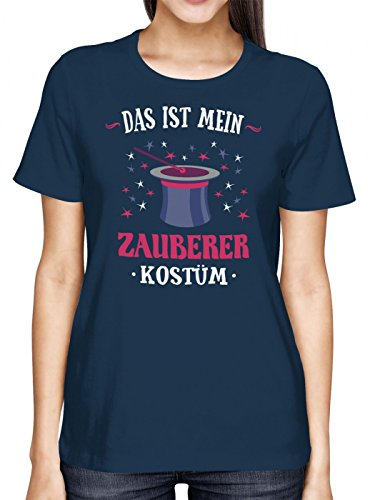mium T-Shirt | Verkleidung | Karneval | Fasching | Frauen | Shirt, Farbe:Dunkelblau (Navy L191);Größe:M ()