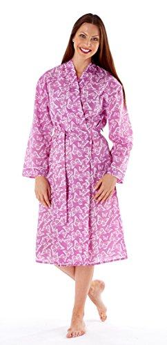 Femmes Clair Imprimé Papillon Cache-cœur Habillage Robe Bleu ou Framboise .tailles 8/10 12/14 16/18 20/22 Framboise Papillon