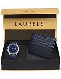 Laurels Men's Combo Pack of Watch & Wallet (CP-INC-603-NAVY-0303)