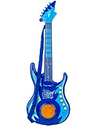 Blue Block Factory Little Musical Rock N Roll Guitar Toy Set For Kids Ages 3+ Music Set, Blue