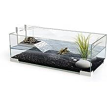 Ciano Tartarium 60 - Terrario de cristal para reptil o tortuga con rampa