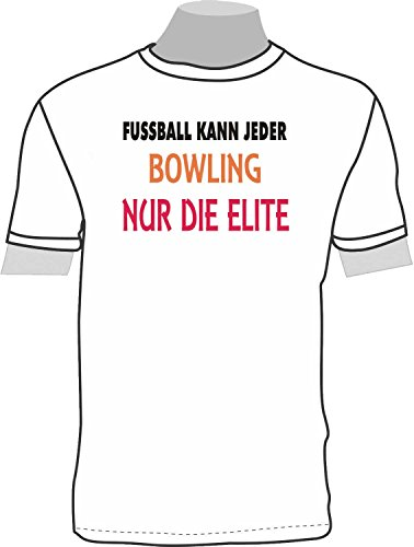 Fußball kann jeder, Bowling nur die Elite; T-Shirt weiß, 48/50; Gr. XL; Damen (50 Shirt Bowling)