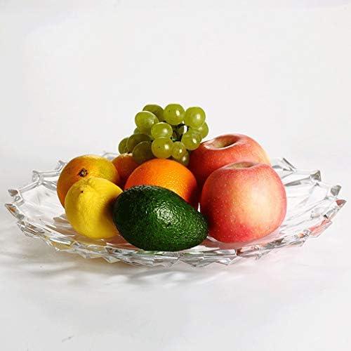 JXJJD Grande Ciotola Ciotola Ciotola di Frutta in Vetro Soggiorno Creativo Moderno Europeo Piatto di Frutta spuntino Piatto Creativo Piatto di Frutta secca 1473b8