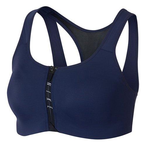 Nike Damen Shape Zip mit Reißverschluss Sport-BH, Binarisches Blau/Schwarz/Weiß, S