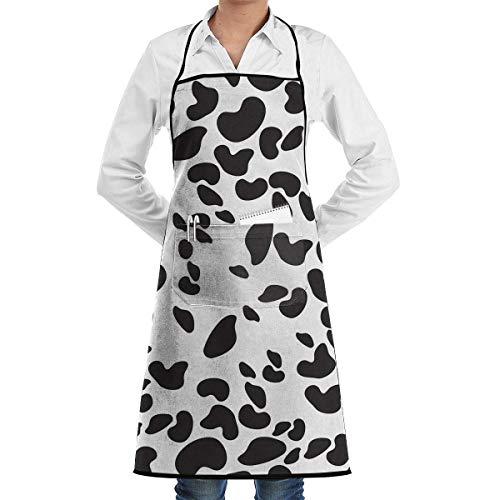 Drempad Unisex Schürzen, Apron with Pockets - Black Cheetah Kitchen Cooking Restaurant Bistro Aprons for (Baker Man Kostüm)