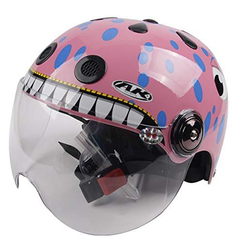 MFKJB Kinder Fahrradhelm Rennrad Mountain Racing Einstellbare Hoverboard Skating Fahrrad BMX Helme 2-6 Jahre Kleinkind Jungen/Mädchen (Color : Pink)
