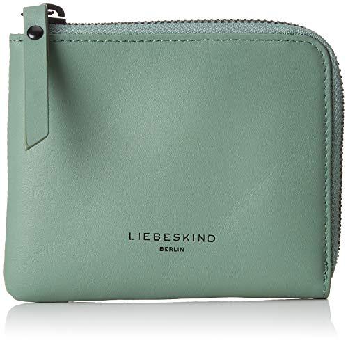Liebeskind Berlin Damen Paper Bag Wallet Small Geldbörse, Grün (Hedge Green) 1x10x12 cm