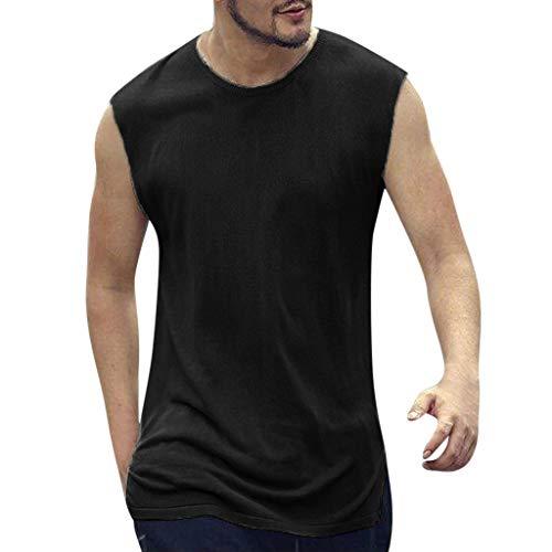 Auied Herren Sommer Beiläufige Dünne Patchwork ärmellose Muscle Shirt Cut Off-Tank Top Unterhemd Ärmellos