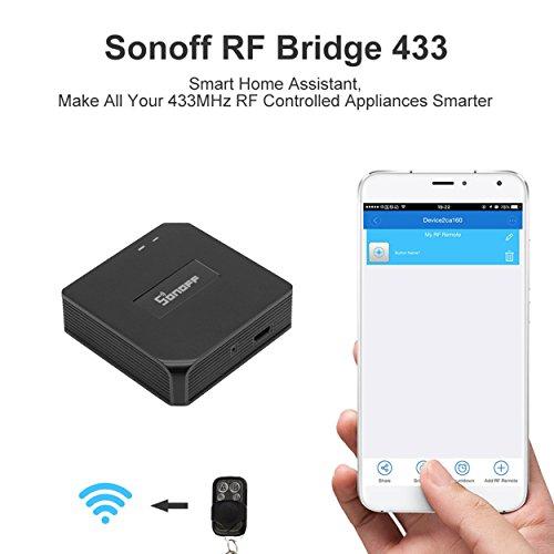 Rf-handsender (Smart Security Remote Switch,Sonoff 433MHz RF Bridge WiFi Automation Universal Timer DIY Intelligent Controller Funktioniert mit Amazon Alexa Von IOS Android)