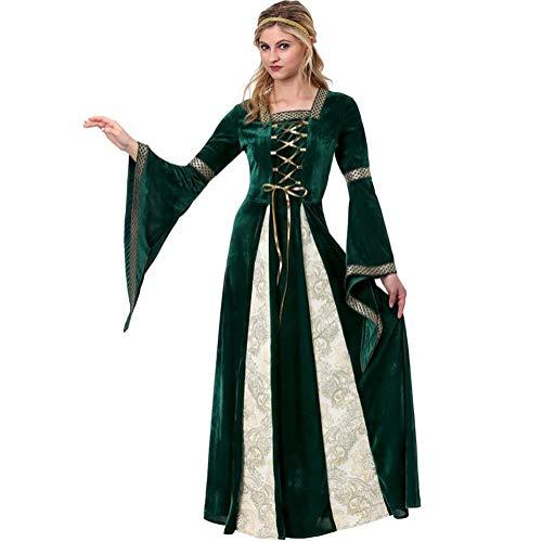 SHANGLY Griechische Königin Cosplay Kostüm Halloween europäischen mittelalterlichen Vintage Gerichtsstil Theater - Griechische Theater Kostüm