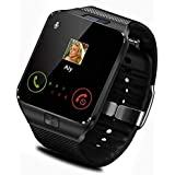 Teconica QM-09 Multi-Functional Bluetooth Smart Watch with Camera, SD Card and Sim Slot Compatible with All iOS, Android, Window Device (Colour May Vary)
