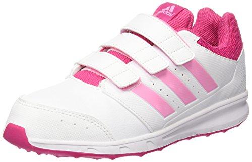 adidas Unisex-Baby LK Sport 2 CF K Laufschuhe Blanco / Rosa (Ftwbla / Sebrro / Eqtros)