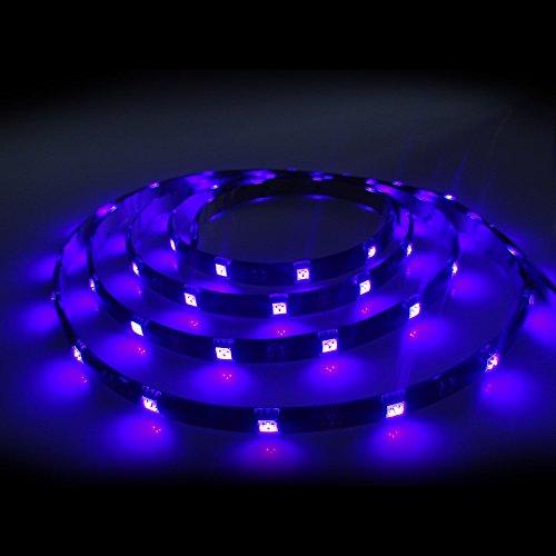 LED Strip schwarzlicht 5050 5m 150 LEDs 12V IP54 UV Licht Komplettset inkl. Netzteil
