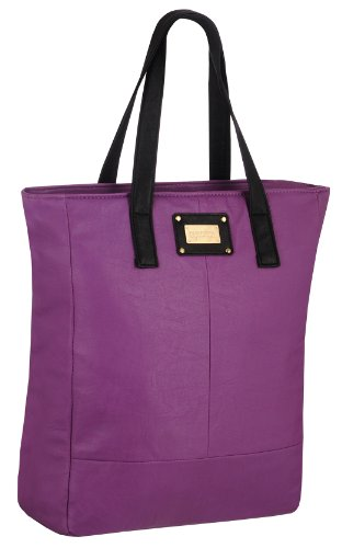 EyeCatchBags - Maribel Damen Kunstleder-Tasche Handtasche Schultertasche Lilac