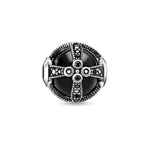 THOMAS SABO Femme Bead Argent Sterling 925, Noirci K0268-641-11
