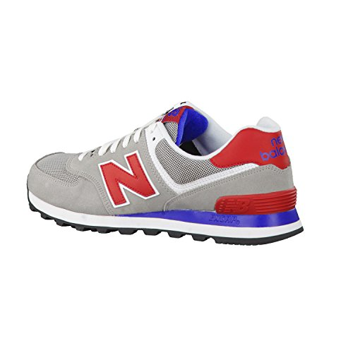 New Balance ML574 Herren Sneakers Grey/Red/Blue