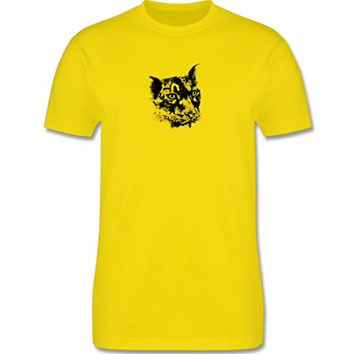 Wildnis - Gepard - Herren Premium T-Shirt Lemon Gelb