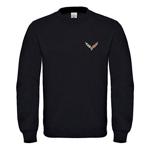 caprica91 Logo Chevrolet Corvette USA GM Bestickte Sweatshirts VIP Super Qualität 100% Cotton - 6074Sw (XL) - Sweat-shirt Corvette