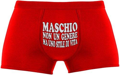 Regali originali per uomo | Maschio - non un genere ma uno stile di vita | Compleanno |Festa �?Rosso