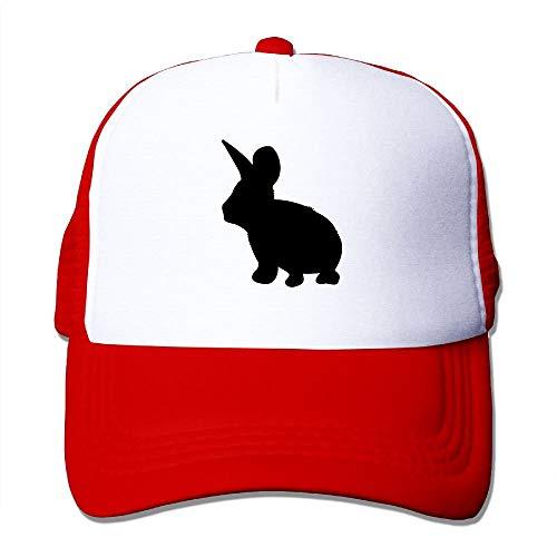 Shadow Bunny Rabbit - 1 Color Big Foam Mesh Hat Mesh Back Adjustable Cap -