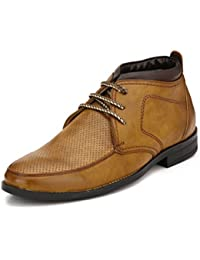 Peponi Men's Tan Casual Leather Ankle Desert Boot