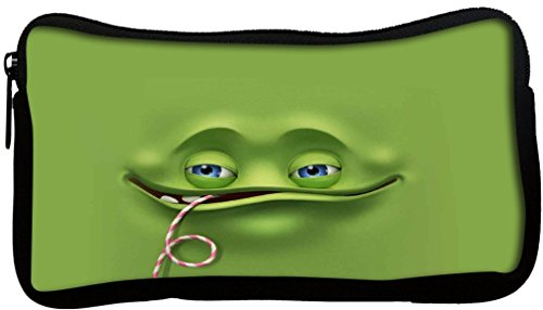 Snoogg Jolly Ghost 2651Poly Tela studente penna matita caso sacchetto di trucco Portamonete Tasca Utility