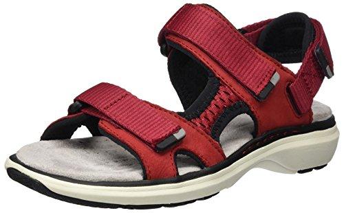 Clarks Un Roam Step, Sandalias de Talón Abierto para Mujer, Rojo (Red Nubuck), 38 EU