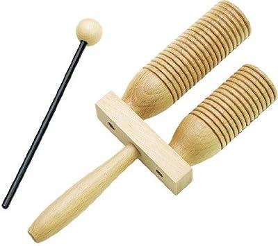 Rohema 61543 Wooden AGOGO - 2-Tone Agogo BIG (grande)