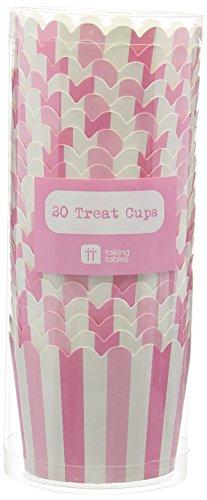 nd Match; Kuchenkörbchen für Backtage, Geburtstage, Teekränzchen, Hochzeiten und Partys, Pink, 250 ml (20 pro Pack) (Kleine Leckerbissen Taschen)