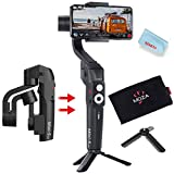 MOZA Mini-S Gimbal Foldable Extendable 3 Axis Smartphone Gimbal with Quick Platback,One-Button...