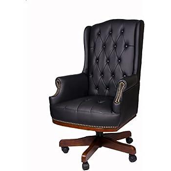 responsables de bureau en synthétique Fauteuil cuir pour de et Luxe bureau directeurs chaisemeuble Chesterfield TKc13JlF