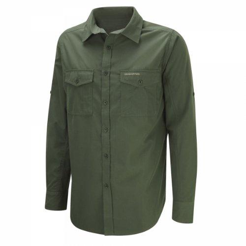Craghoppers Herren Kiwi Langarm Hemd, Cedar, XXXXL
