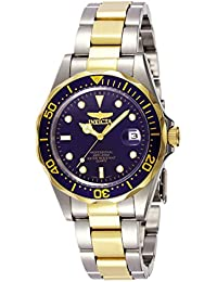 Invicta Pro Diver Unisex Wrist Watch Stainless Steel Quartz Blue Dial - 8935