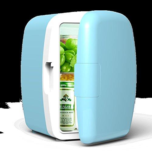 Peaceip 6L 12V DC 220V AC réfrigération Chauffage réfrigérateur Réfrigérateur Mini petite maison mini voiture double usage réfrigérateur Dimensions extérieures: 24 * 21.5 * 30.5cm, Dimensions internes: 14 * 15.5 * 26.5cm, ( Color : Bleu )