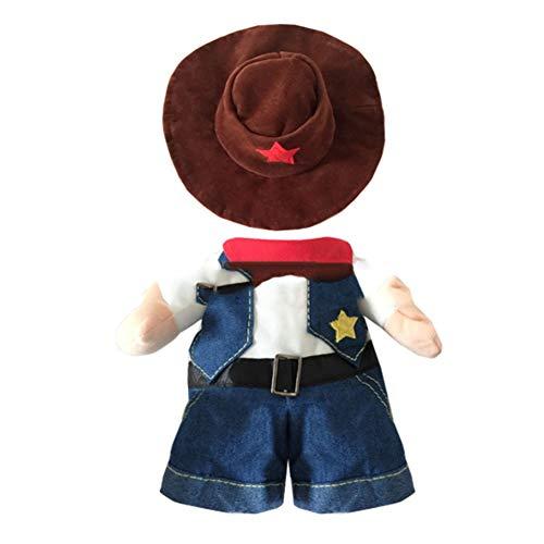 YAOBAO Lustige Haustier-Cowboy-Ausstattungs-Kleidung, Hundekatzen-Halloween-Kostüme, Uniform Mit Hut Für Hundekatze,S