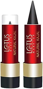 Lotus Make-up Natural Kajal, Black, 4g