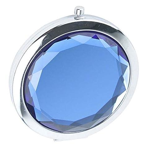 Ohcde Dheark Poche De Pliage Compact De Voyage Crystal Miroir , Bleu Royal