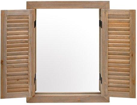 Gran-espejo-con-forma-de-persianas-rustiques-pared-para-cuarto-de-bao