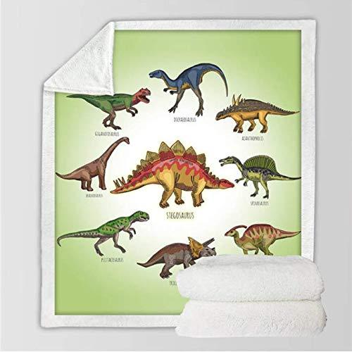Ropa cama Dinosaurio Sherpa Throw Blanket Jurassic