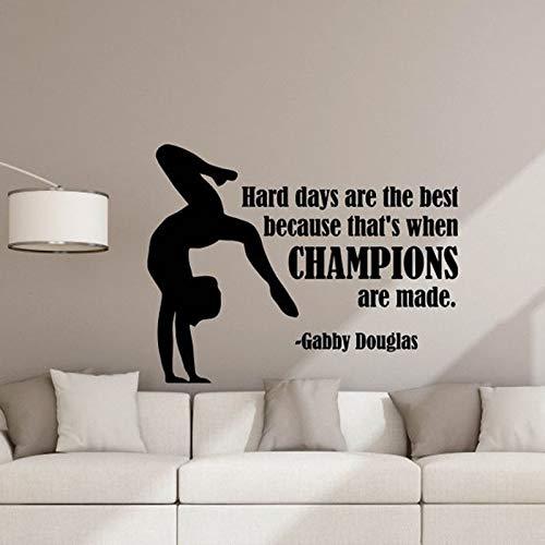 Harte Tage sind das beste Zitat Wall Decal Turner Poster Zeichen Sport Gym Vinyl Aufkleber Spielzimmer Dekor Schlafzimmer Wandbild 75 * 57 Turner Spiegel