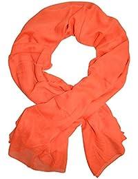 54c44f418c9e Amazon.fr   Orange - Echarpes et foulards   Accessoires   Vêtements
