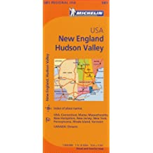 Michelin USA: New England, Hudson Valley Map 581 (Michelin Maps)