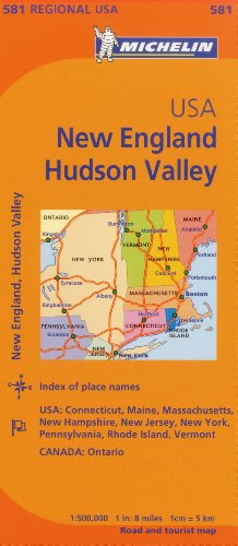 Michelin Map USA New England, Hudson Valley