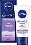 Nivea Essentials nachtcrème | Voor de gevoelige huid | Tube van 50 ml