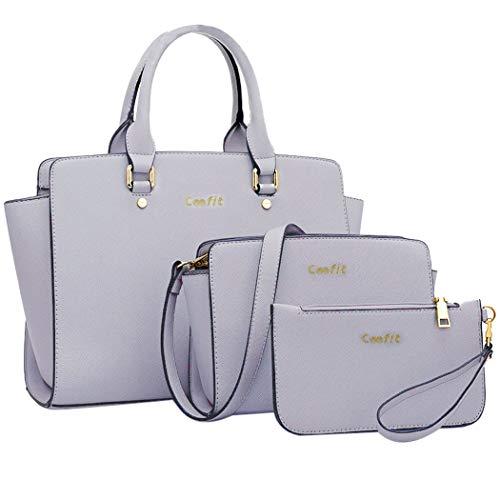 Damen Handtaschen, Coofit Handtaschen Set Henkeltasche Damen Umhängetasche Leder Crossbody Tasche Handgelenktasche